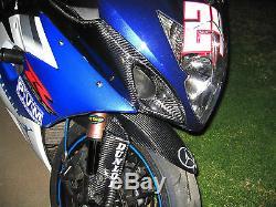 05 06 2005 2006 Suzuki Gsxr 1000 Carbon Fiber Ram Air Intake Covers