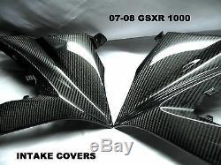 07 08 2007 2008 Suzuki Gsxr 1000 Carbon Fiber Ram Air Intake Covers