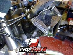 09-13 Carbon Race Air Duct Intake Clock Fairing Bracket Kawasaki Zx-6r Zx6r 6 R