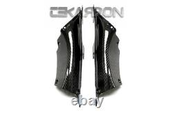 2012 2016 Honda CBR1000RR Carbon Fiber Air Intake Covers 2x2 twill weaves