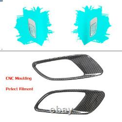 2PCS Real Carbon Bonnet Hood Fender Air Intake Vent Trim For BMW E90 E92 E93 M3