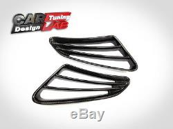 (2)Carbon fiber side vents intake fender air flow cover for Porsche Cayman S 987