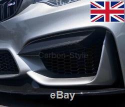 BMW F80 M3 F82 M4 Carbon Fiber Upper Front Bumper Intake Splitter Trim