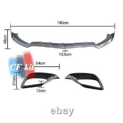 Carbon Fibre An Front Bumper Lip + Splitters Intake Cover For Benz W213 E63 Amg