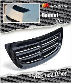 Carbon Fibre Bonnet Scoop Hood Air Vent Intake for Mitsubishi Evolution EVO 8 9