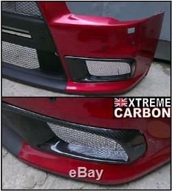 Carbon Front Bumper Vents Air intake kit Fits Mitsubishi Evo X EVOLUTION 10