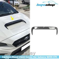 Carbon Hood Intake Scoop Vent Cover Fit For Subaru WRX 4th STI / Levorg 15-18