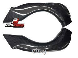 Carbon Race Air Intakes Pipes Tubes For Suzuki Gsxr Gsx-r 600 750 2008-2010 K8