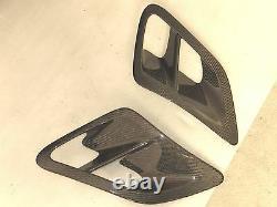 Carbon fiber Side fender Air Intake Scoops vents fit Porsche 997 Turbo