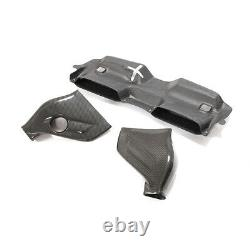 Dry Carbon Fiber Air Intake Engine Cover System For Mercedes Benz W204 C63 AMG