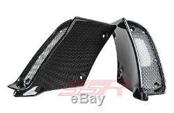 Ducati Diavel Air Ram Intake Inlet Fairing Covers With Grilles Carbon Fiber Fibre