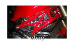 Ducati Monster 696 796 1100 Carbon Fiber Lower Side Air Intake Emissions Fairing