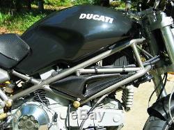 Ducati Monster M 900 750 600 400 Intake Air Ram Vent Panel Covers Carbon Fiber