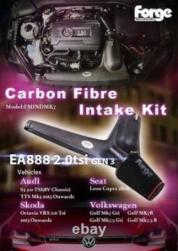 FORGE Carbon Fibre Intake Kit for VW, Audi, Seat, Skoda 2.0 TSI EA888 FMINDMK7