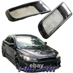 For 08-13 Mitsubishi EVO X EVO 10 Carbon Fiber Lower Side Intake Vent Covers
