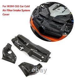 For Benz W204 C63 AMG Car Cold Air Fliter Intake System System Dry Carbon Fiber