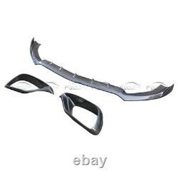 For Benz W213 E63 Amg Carbon Fibre An Front Bumper Lip + Splitters Intake Cover