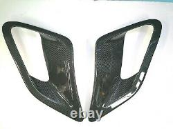 Gloss Carbon fiber GT2 Side fender Air Intake Scoops vents fit Porsche 997 Turbo