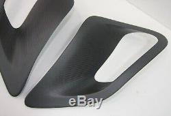 Matte Carbon fiber GT2 Side fender Air Intake Scoops vents fit Porsche 997 Turbo
