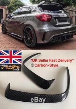 Mercedes W176 A Class Carbon Fiber Rear Bumper Intake Vent Trim AMG A45