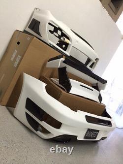 Porsche TA GT Street R Rear Bumper 997 Turbo with Carbon Fiber Top Grill & Intakes