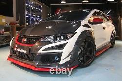 Real Carbon Fiber front bumper air intake scoop fit Honda 2015 Civic Type-R FK2