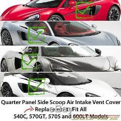Scopione Carbon Fiber Side Door Scoop Vents for McLaren 16-19 540C 570GT/S 600LT
