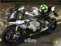 Yamaha R1m 2015 To 19 Carbon Air Duct Intake Access Covers In Twill Gloss Fibre