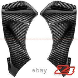 2005 2006 Zx-6r 636 Upper Front Dash Air Intake Cover Fairing Cowl Carbon Fiber