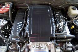 2005-2010 Mustang Gt 4.6 High Gloss Real Fibre De Carbone Moteur Prise Plenum Cover