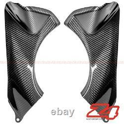 2007 2008 Ninja Zx-6r Front Dash Air Duct Intake Cover Careing Cowl Fibre De Carbone