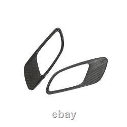 2pcs Real Carbon Bonnet Hood Fender Air Intake Vent Trim Pour Bmw E90 E92 E93 M3