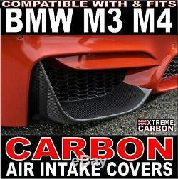 Admission D'air Avant De Carbone Sont Les Flaps De Canards Fits Bmw M3 M4 F80 F82
