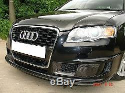 Admission D'air En Fibre De Carbone Avant Conduits Scoops Seulement Pour Audi Adaptent A4 B7 Pare-chocs Dtm