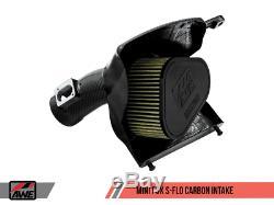 Awe Tuning S-flo Admission D'air Froid En Fibre De Carbone Fits 2014+ Mini 2.0 Turbo F56