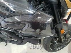 Couvertures D'admission D'air En Fibre De Carbone Diavel De Ducati 2011 12 13 14 15 16 17