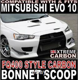 Duc À Prise D'air De Capot En Carbone Pour Mitsubishi Evolution 10 Fq400 Style