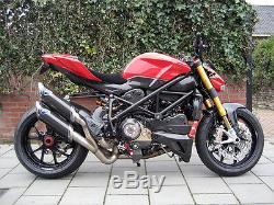 Ducati Streetfighter S Performance D'admission D'air Conduit Ram Tubes En Fibre De Carbone
