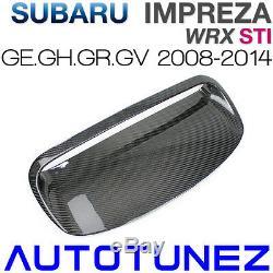 En Fibre De Carbone De L'air De Capot Prise D'admission Vent Bonnet Pour Subaru Wrx Sti Ge Gh 08-14 2g