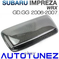 Fibre De Carbone Air Sur Le Capot D'entrée D'air Bonnet Pour Subaru Wrx Gd Gg 2006 2007 2g