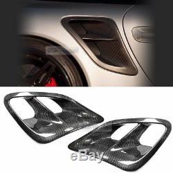Fibre De Carbone Garde-boue Arrière Air Scoop Admission D'air Conduit Pour Porsche 991 Turbo (997)