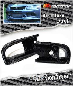 Fibre De Carbone Pare-chocs Avant Double Admission D'air Duct Pour Mitsubishi Evolution IX Evo 9