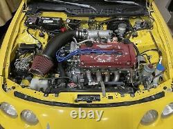 Js Racing Fibre De Carbone Prise D'air 94-01 Acura Integra Type R Ls Gs 98 99 00