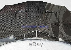 Lamborghini Aventador Capot En Fibre De Carbone Avant Bonnet Avec Mesure Et Ventilations Intakes