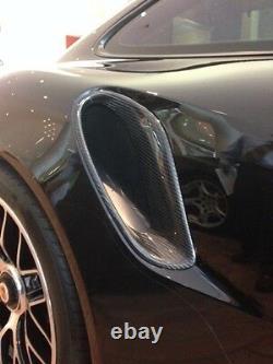 Porsche 991 Turbo S Carbon Fiber 2014 Kit De Prises D'air Latérales Scoop. Nouveau Wow