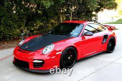 Porsche 997 Turbo Gt2rs Carbon Fiber Scoops D'admission D'air Côté, Mat Ou Brillant