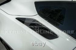Pour 14-19 Corvette C7 Z06 Style Usine Fibre De Carbone Quartier Arrière Ventilateurs D'entrée