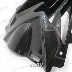 Pour 15-17 Bmw S1000rr Upper Center Nose Air Intake Ram Carérage Real Carbon Fiber