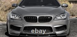 Pour Bmw Série 6 F06 M6 F12 F13 650i 12-17 Grille Avant Fibre De Carbone