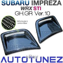 Prise Latérale En Fibre De Carbone Vent Pour Subaru Impreza Wrx Sti Gh Gr Hatchback Voiture 2g